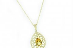 18ct yellow gold and citrine pendant