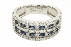 18 carat White Gold Dress Ring containing .71ct of Diamonds & .55ct of Sapphire