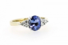 18ct yellow & white gold Ceylon Sapphire & Diamond ring