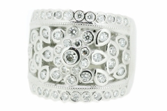 Handmade Platinum dress ring with a total Diamond content of 1.56ct