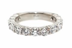 Plainum Handmade Anniversary Ring  with 13 Diamonds equaling 2.2ct F, VS