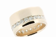 18ct Rose Gold & Diamond channel set full round band