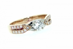 18ct Rose Gold & Diamond Engagement ring