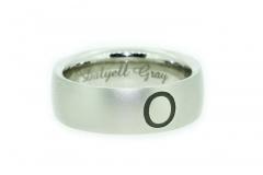 Palladium Laser Engraved gents wedding ring