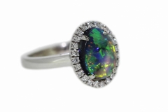 18ct White Gold Opal Dress Ring