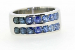 18ct channel set sapphire ring
