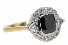 Two Tone Black Diamond Dress Ring