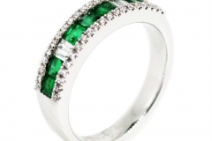 Natural Emerald and Diamond Eternity Ring