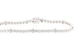18ct White Gold Tennis Bracelet