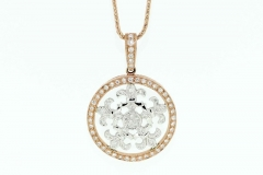 Rose Gold and Diamond Enhancer Pendant