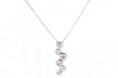 18ct white gold articulated diamond pendant