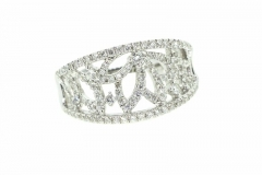 18ct White Gold Micro Set Diamond Dress Ring