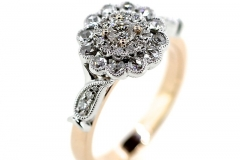 18ct rose gold Rose cut Diamond ring
