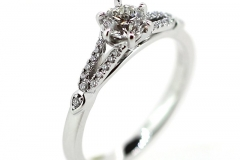 18ct gold micro set Diamond Engagement ring