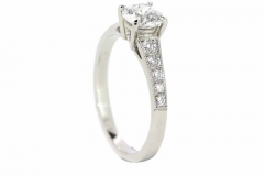 Platinum Handmade Diamond Engagement Ring