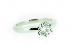 18ct white gold 1.1 carat engagement ring