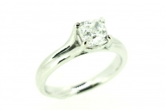 18ct White Gold 1.3 Carat Square Cut Engagement Ring