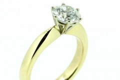18ct gold handmade Solitaire engagement ring