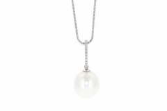 White South Sea Pearl and Diamond Pendant