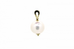 9ct gold south sea pearl pendant