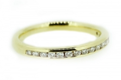 18ct Yellow Gold channel set diamond band
