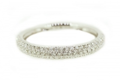 18ct white gold pave set band featuring 79 diamonds