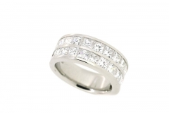 Platinum Handmade Double Row Channel Ring