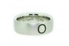 Palladium Laser Engraved gents wedding ring