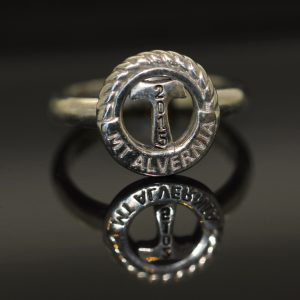 silver customised ring emblem