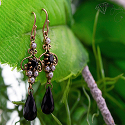 black earrings jewellery brisbane