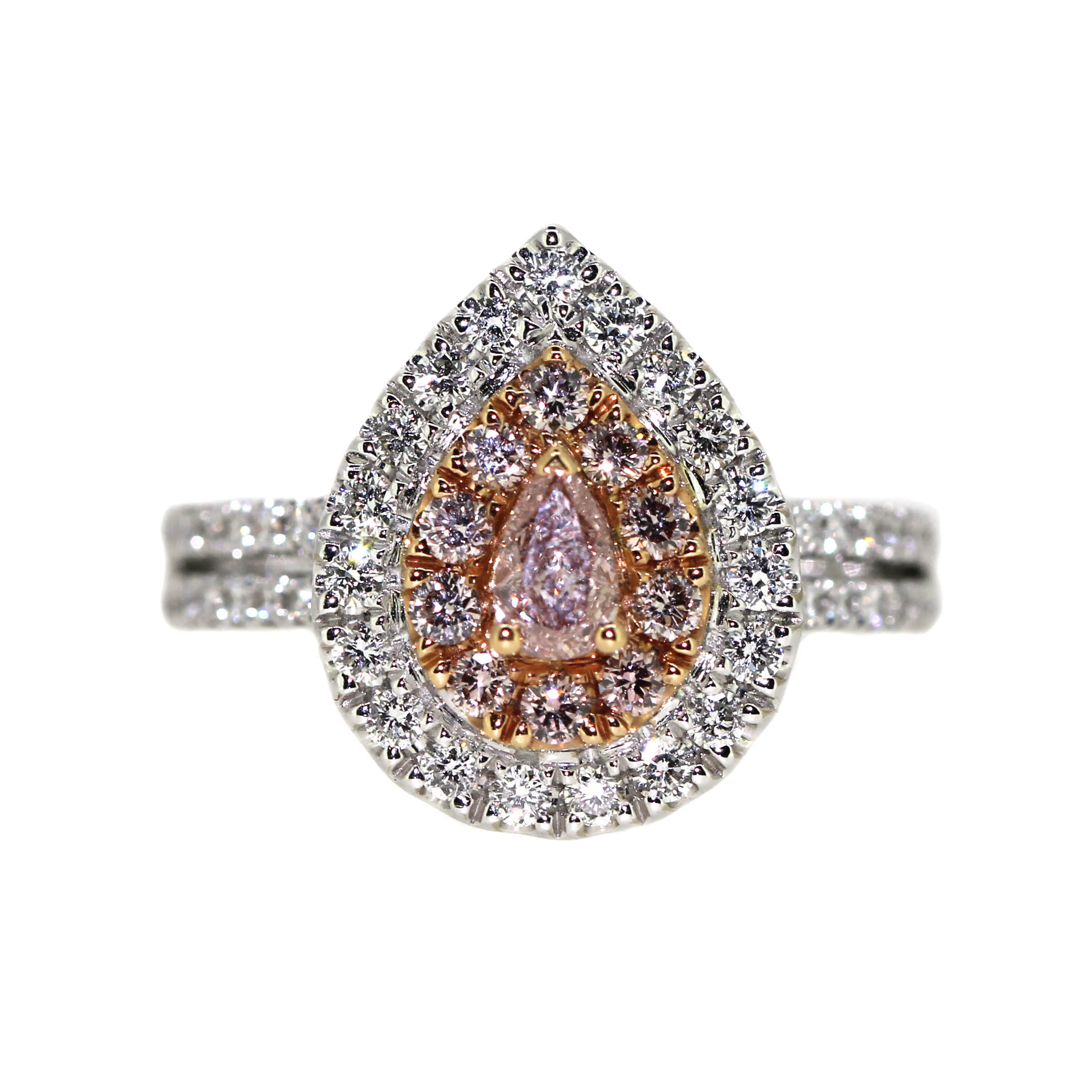 pear shaped ring with diamonds
