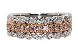 multi-band ring with diamonds