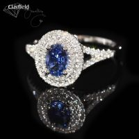 .78ct Sapphire & 62 Diamonds equal to .39cts all set into 18ct White Gold