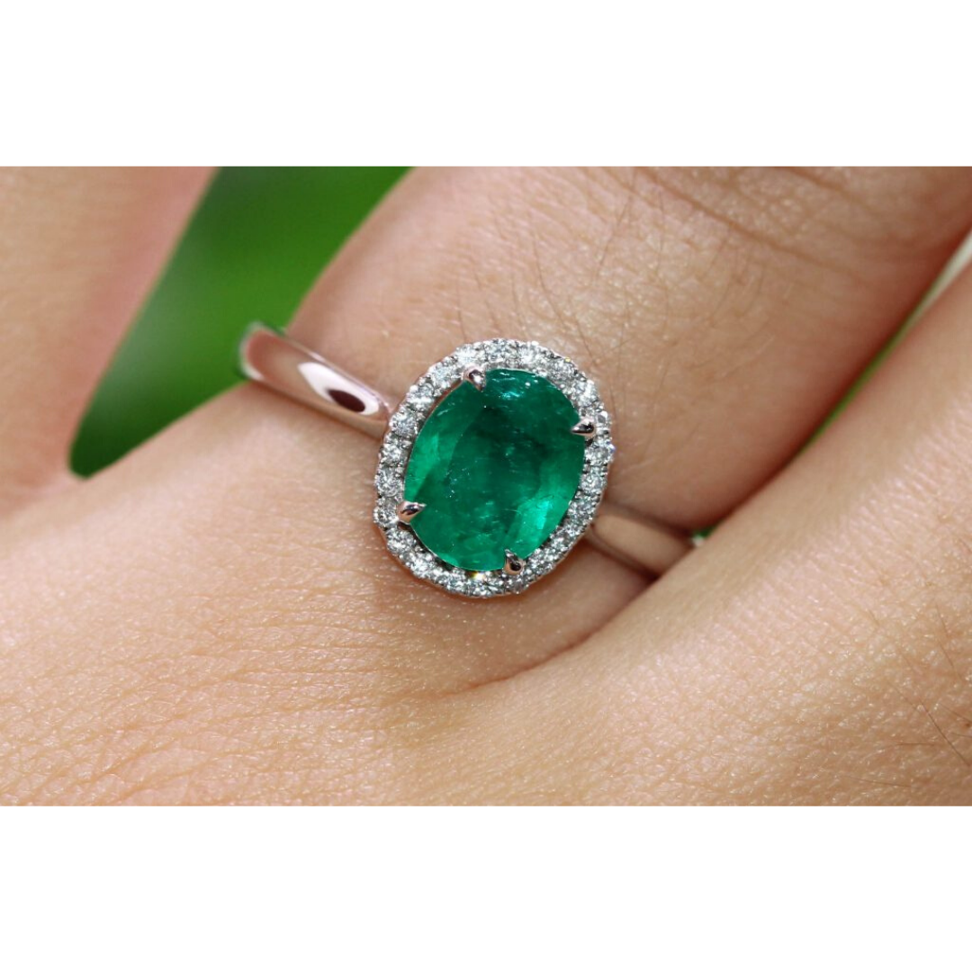 clayfield jewellery emerald and diamond ring