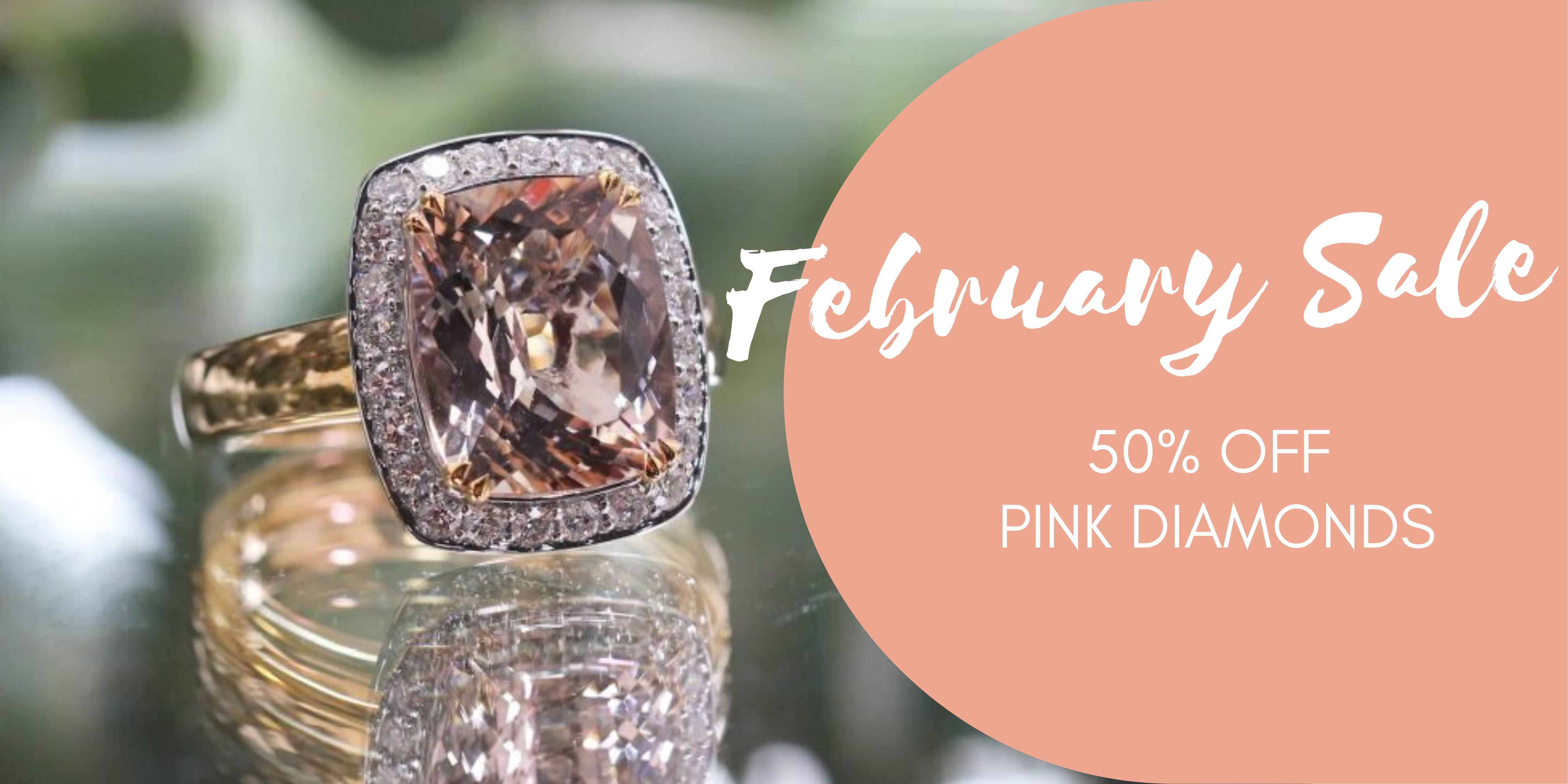 clayfield jewellery 50% off pink diamonds