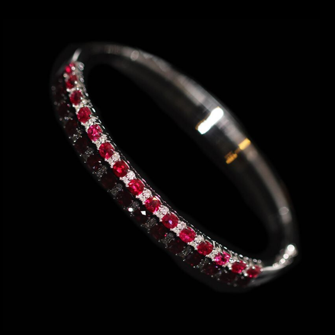 clayfield jewellery ruby and diamond bracelet