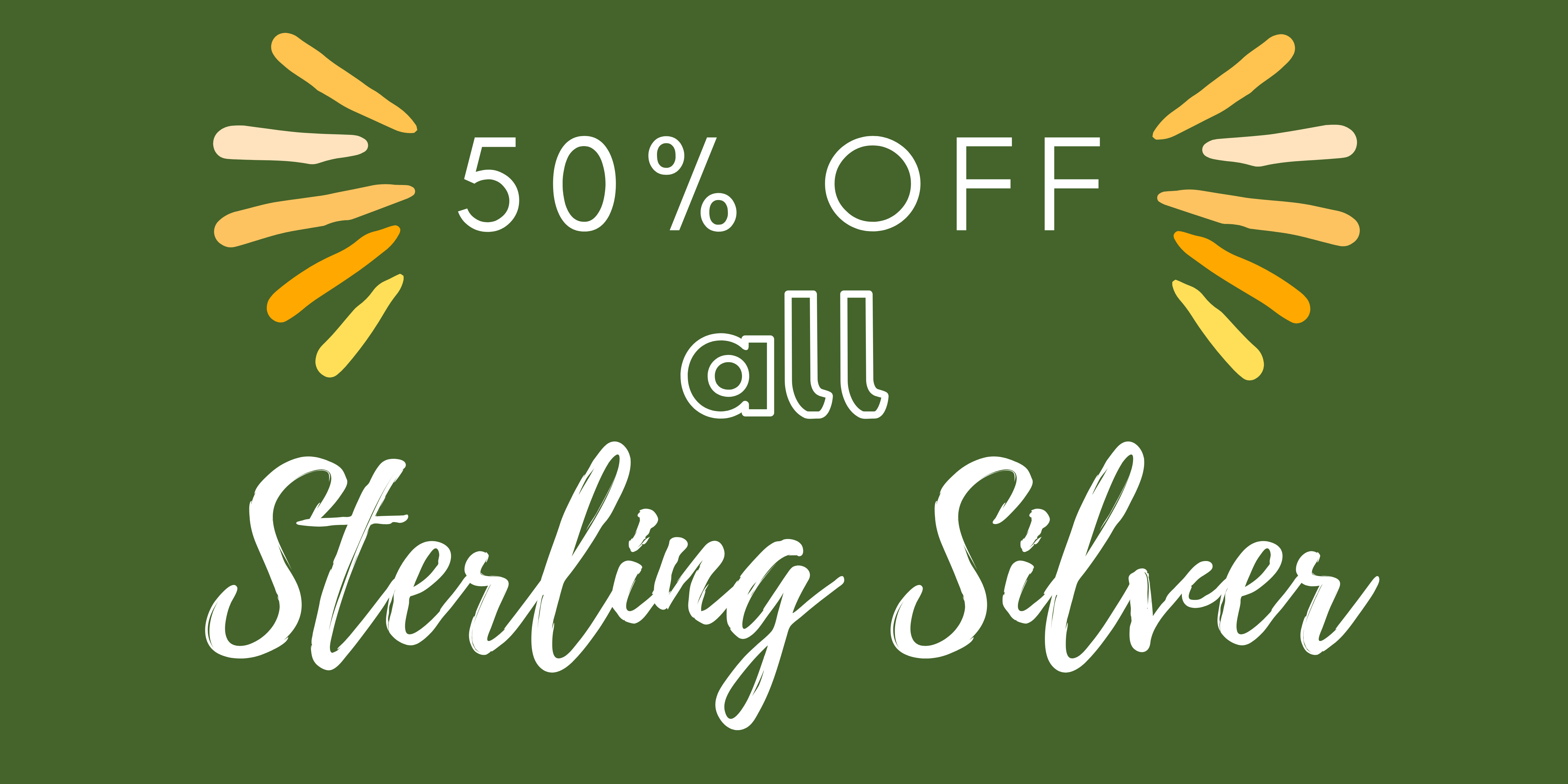 50% off sterling silver