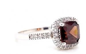 chocolate opal and diamond ring