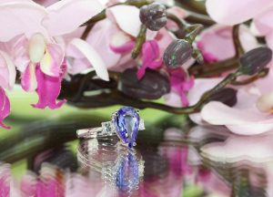 clayfield jewellery tanzanite and diamond ring