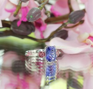 clayfield jewellery tanzanite and pink diamond