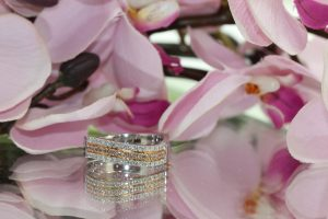 clayfield jewellery diamond and pink diamond band ring