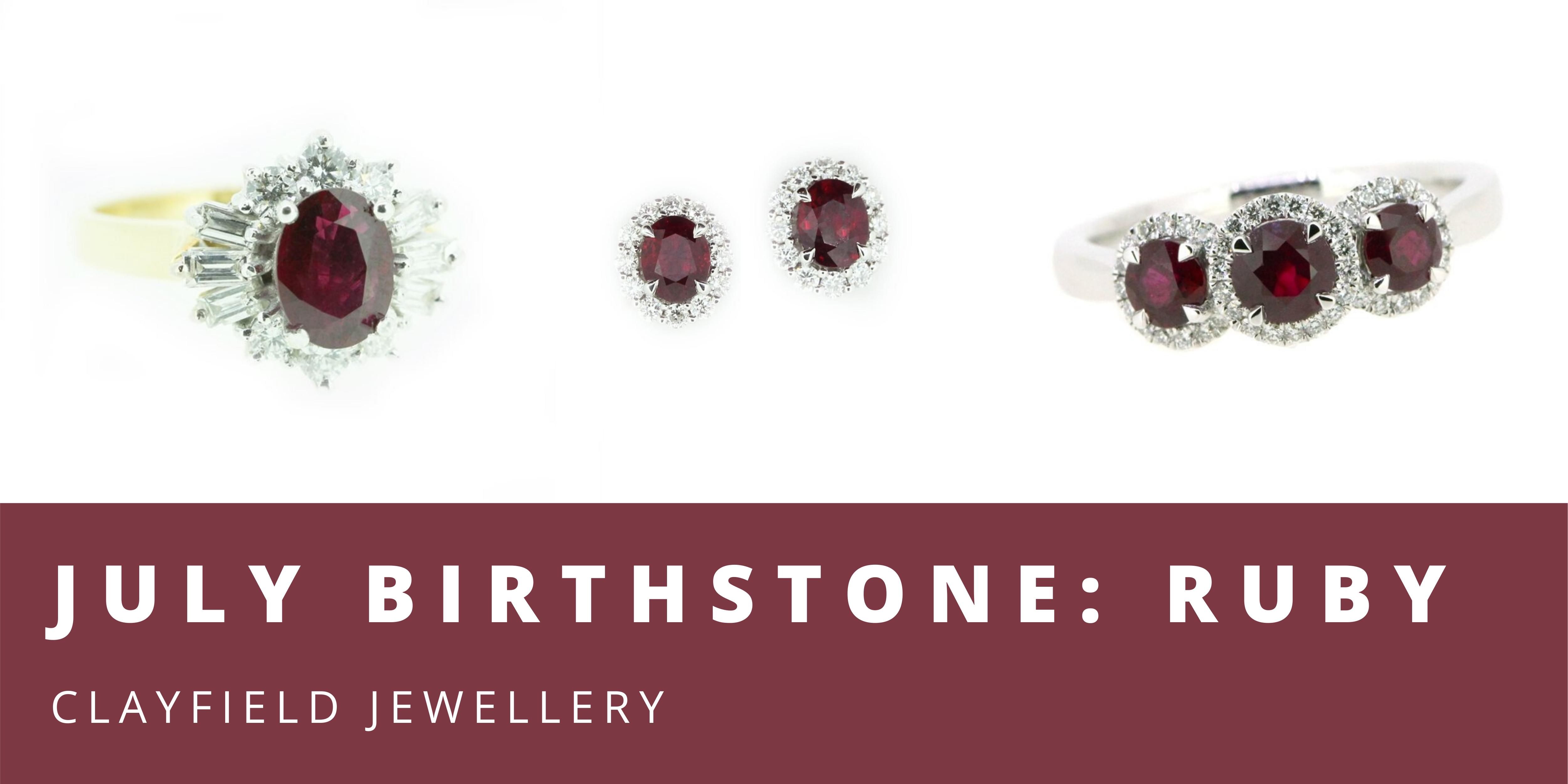 clayfield jewellery july birthstone ruby jewellery